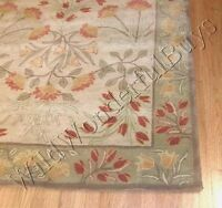 Pottery Barn Adeline Rug Green 5x8 Floral Leaves Tufted Wool Authentic