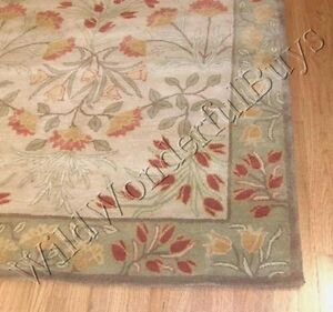 Pottery Barn Adeline Rug Multi Green 3x5 Floral Leaves