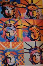 PETER MAX POSTER-LIBERTY COLLAGE #1-A COOL AND VERY COLORFUL POSTER-LAST ONES