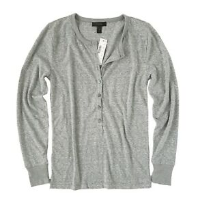 22c73523 J Crew - Womens XXS - Slim Fit Heather Gray Long Sleeve Cotton Blend ...