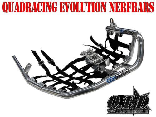 Nerfbars EVOLUTION CON heelguards /& predellini in nero per KAWASAKI KFX 400