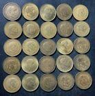 Old Spain Coin Lot - 1947-1966 - 25 Excellent Franco Pesetas - Lot #O27