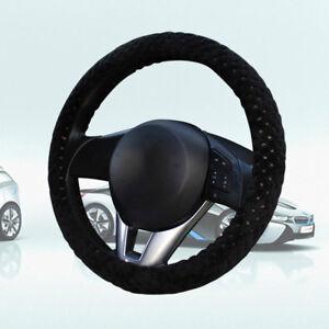 Car-Steering-Wheel-Cover-Universal-Soft-Warm-Plush-Cover-Winter-Black-Universal
