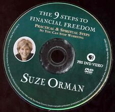 Suze Orman DVD 9 Steps To Financial Freedom Practical & Spiritual  Steps NO CASE