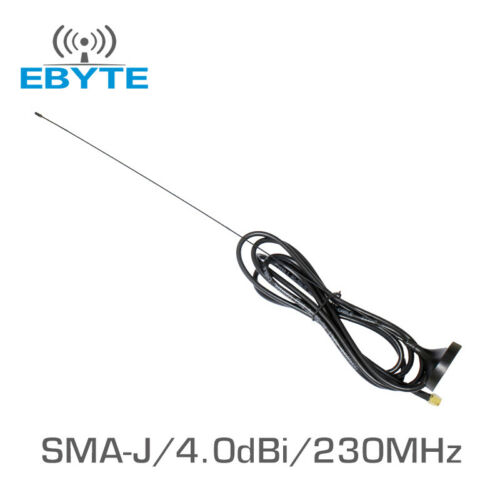 2pcs//lot Ebyte TX230-XP-200 4.0dBi 230MHz Sucker vhf High Gain WIFI Omni Antenna