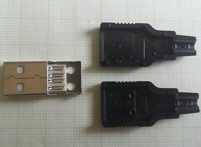 Verantwortlich 1x Usb Stecker Reparatur Connector Male Type A 4pol Lötbar Diy Lade Daten Kabel Herausragende Eigenschaften