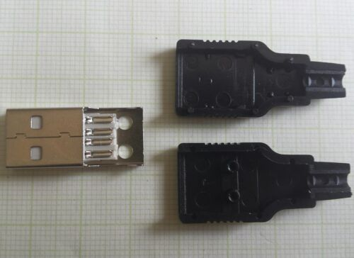 1x USB Connector Repair Connector Male Type A 4pol solderable DIY Charging Data Cable