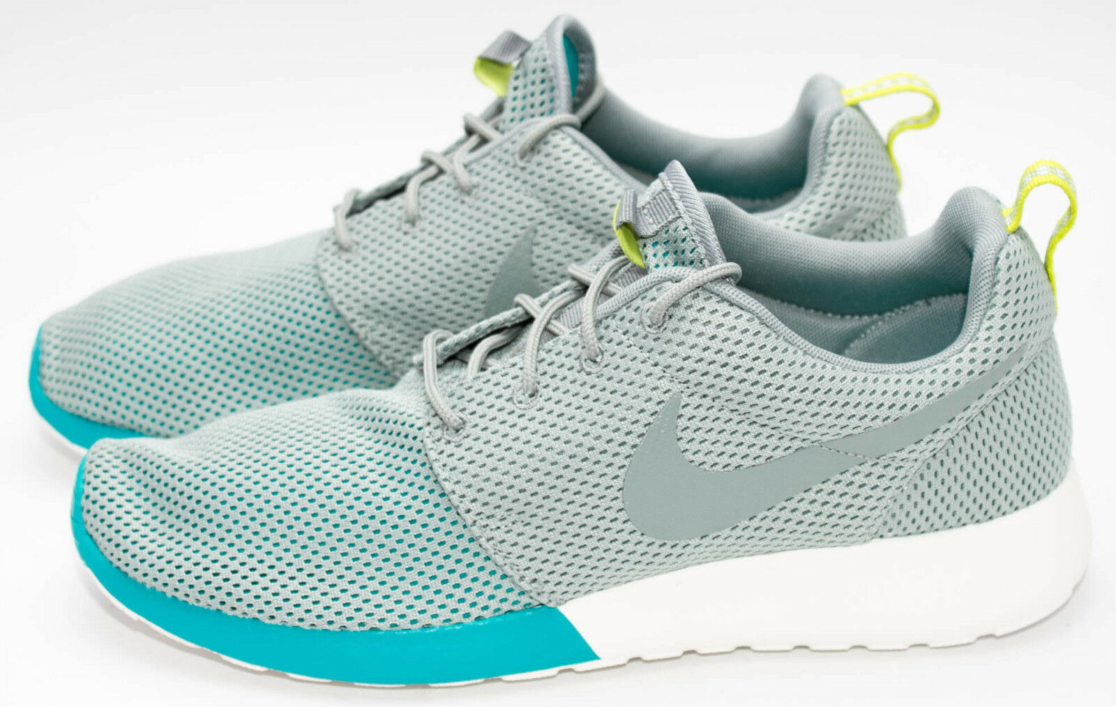 Nike Rosherun   Geteilte Zehe   Mica Grün Gipfel Weiß 511881-300 Sz 8.5-12