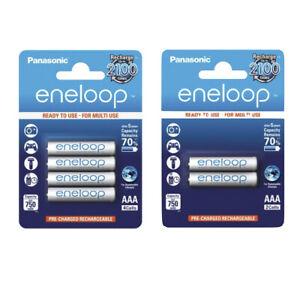 Panasonic eneloop Akkus AAA 800 mAh Micro Accus aufladbare Batterien * Neuware