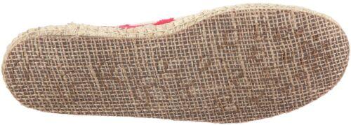 Women Reef Ocean Swell Slip On Canvas 8102 Red White 100/% Original Brand New