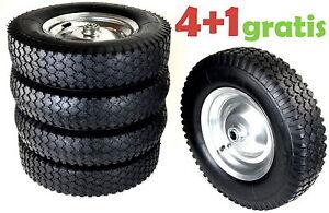 4+1 GRATIS! 5 x Sackkarrenräde<wbr/>r 400mm N9 Reifen Rad Luftreifen 4.80/4.00-8 k45