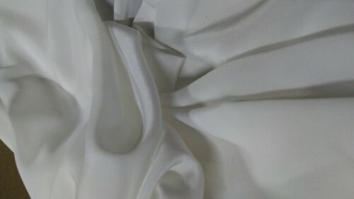 """5 Yards White 100/% Silk 55/"""" Inches Wide"""