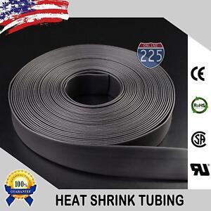 "100/' Feet BLACK 1//2/"" Polyolefin 2:1 Ratio Heat Shrink Tubing"