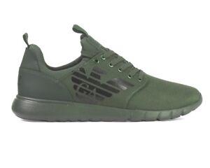 639ec4ae8d20 Sale Emporio Armani Sneakers X8X008 XK008 EA7 Mens Trainers Green ...