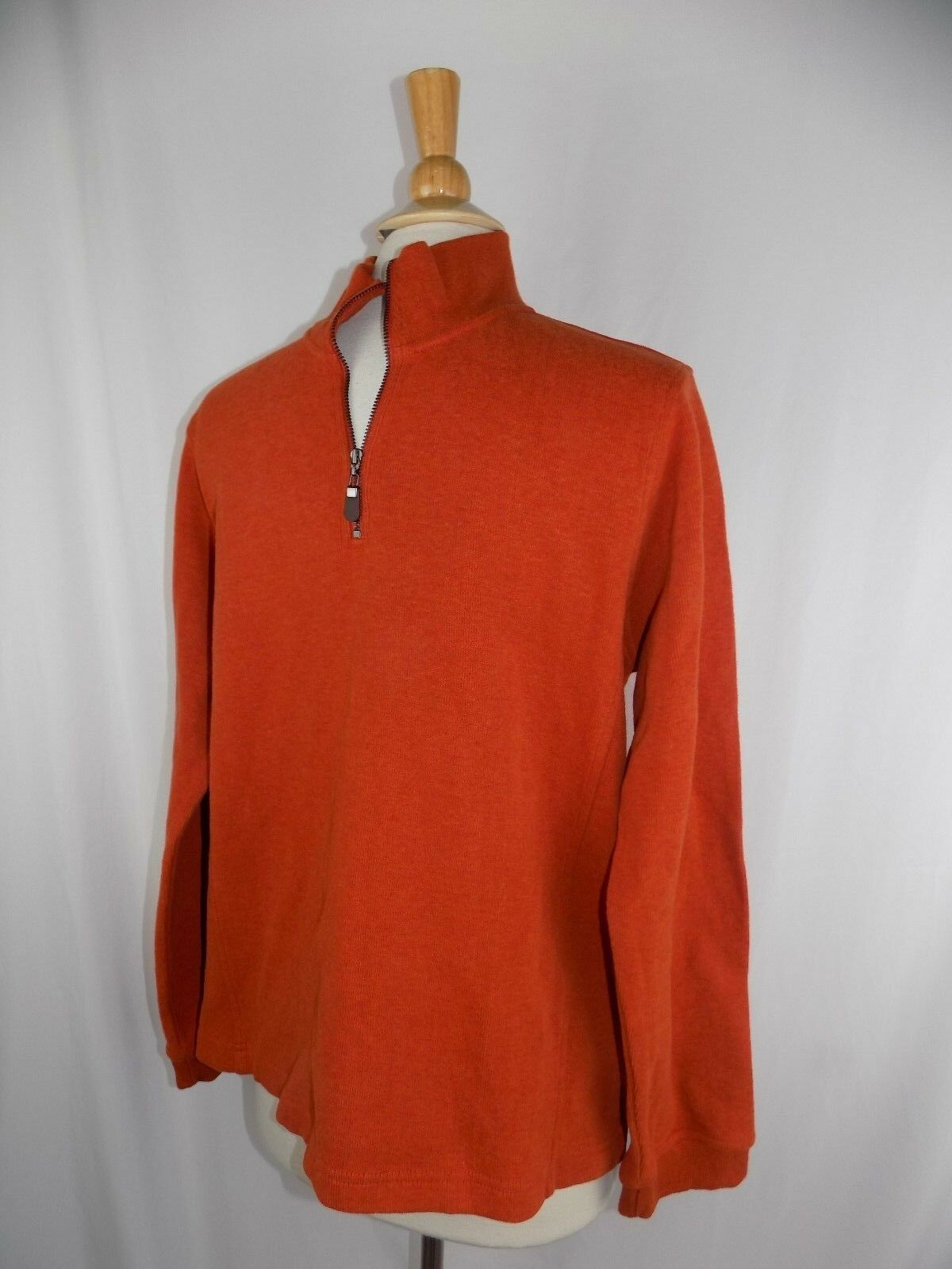 Orvis 1 4 Zip Cotton Sweater Burnt orange Men's Large