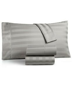 Charter-Club-Queen-Fitted-Sheet-amp-Pillowcase-Set-Damask-Stripe-550-TC-E93044