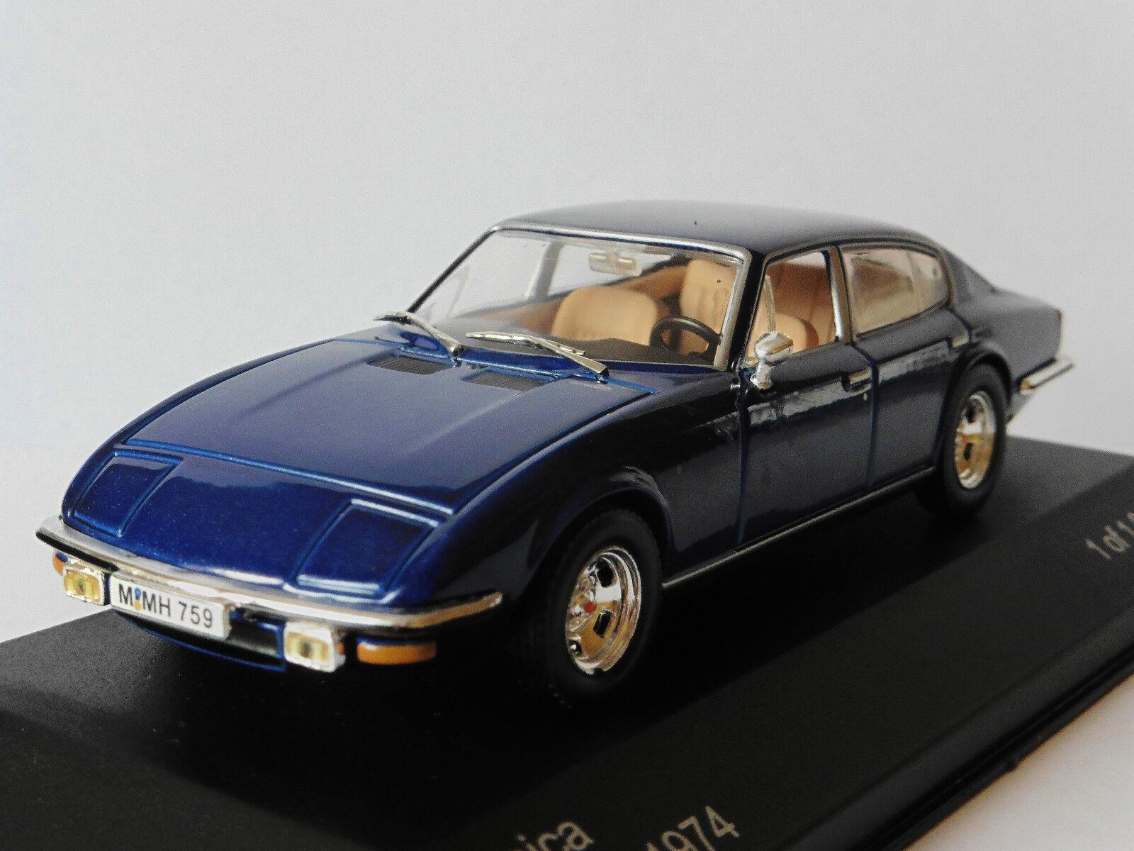 MONICA 560 V8 1974 DARK blueE WHITEBOX WB085 1 43 LIMITED EDITION 1000 PIECES