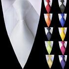 Classic Men's Tie set Jacquard Woven Silk Necktie party wedding Solid Plain tie