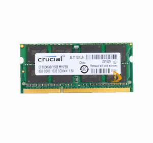 Crucial-8GB-DDR3-PC3-10600-1333MHz-RAM-SODIMM-Fr-APPLE-MacBook-Pro-iMac-Mac-mini