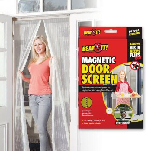 2 PACK BUG DOOR SCREEN Mosquito Flies Wasps Insect Pest Control Kitchen Doorway