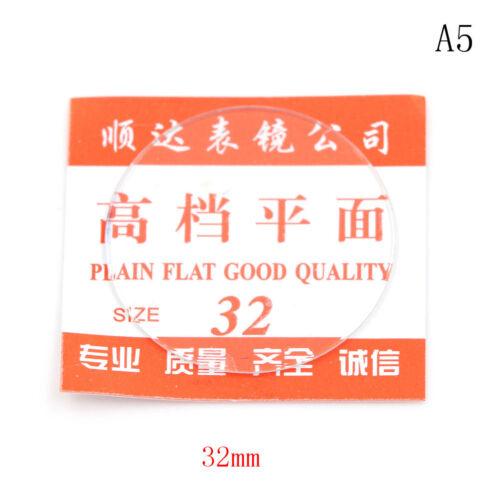 1PCS cristal plat montre lentille de visage en verre pour montre dia 28mm-32mmRD