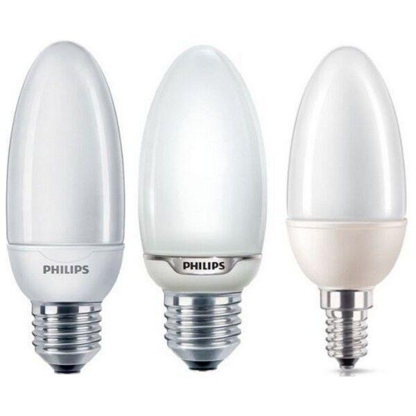 PHILIPS Bougie Cfl Ampoule 5 W 8 W 12 W Énergie ES E27 Basse Énergie W E14 Ses Ampoules Lampes 5583ee
