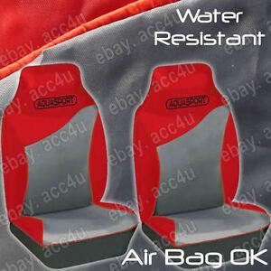 Aquasport-Eau-Resistant-Air-Sac-Ok-Gris-Rouge-Voiture-Siege-avant-Van