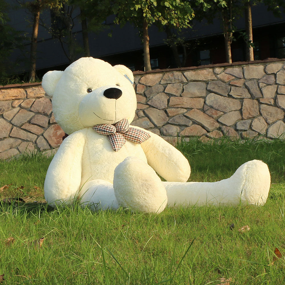 Joyfay® Giant Teddy Bear 63  160cm 5 ft bianca Stuffed Plush Toy Christmas Gift