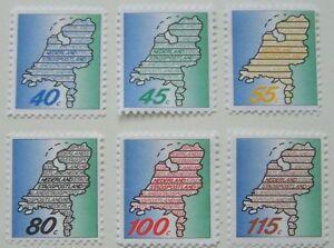 Stadspost-Haarlem-1987-Serie-Nederland-Stadspostland-Landkaart