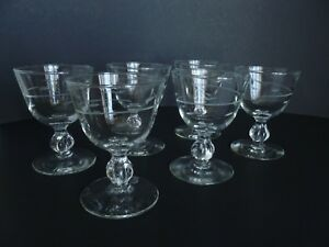 Set-of-6-Vintage-Mid-Century-4-034-Footed-1960-039-s-Port-Wine-Liquor-Glass