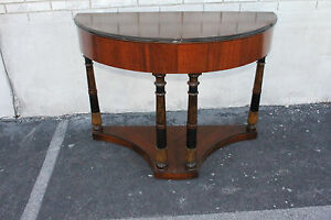 Image Is Loading Gorgeous Art Deco Walnut Console Table Signed By