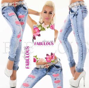 Women/'s Slim Fit Skinny Leg Jeans Coloured Denim Size 6 8 10 12 14 XS S M L XL