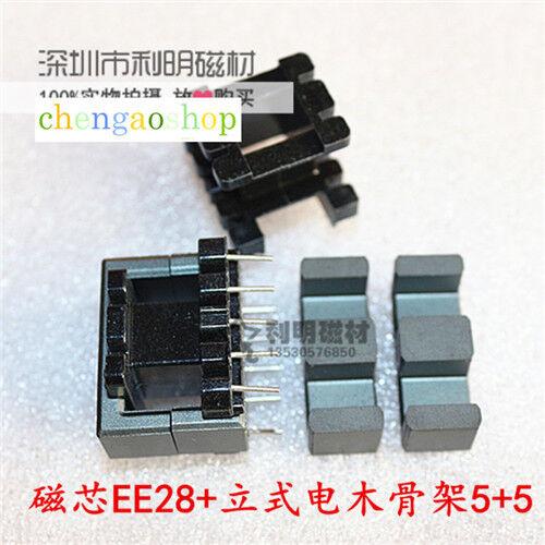 inductance bobine #Q1699 ZX Transformateur Core 20set EE28 5+5 broches noyaux de ferrite Bobine