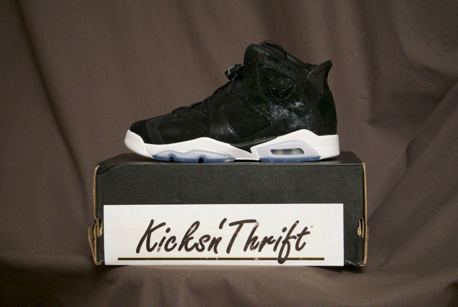 AIR JORDAN RETRO 6 881430-029 HEIRESS PREMIUM FLIGHT SHADOW GIRLS BOYS BARON OG