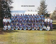 1976 Seattle Seahawks 8x10 Team Photo Steve Largent Rookie Jim Zorn Color