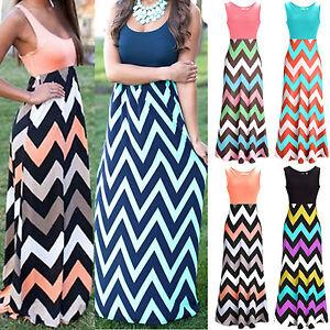 Womens-Sleeveless-Boho-Long-Maxi-Dress-Striped-Ladies-Beach-Summer-Swing-Dresses