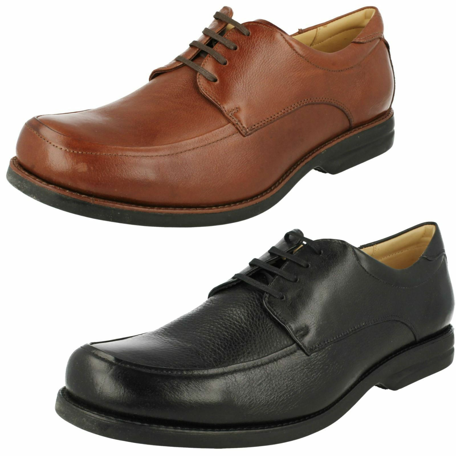 ANATOMIC GEL MENS LACE UP BLACK BROWN LEATHER FORMAL WORK SMART Schuhe ANAPOLIS