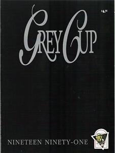 CFL-Grey-Cup-1991-Final-Toronto-Argonauts-Calgary-Stampeders-Official-Program