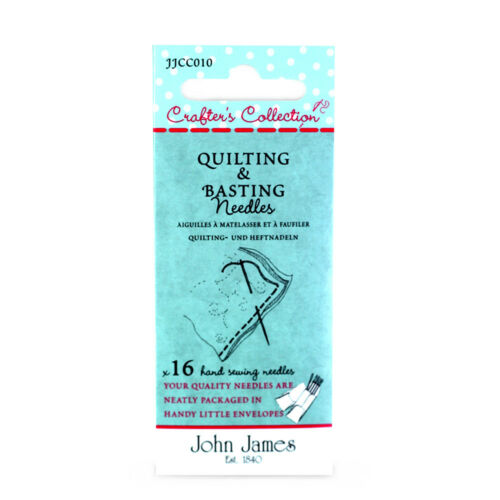 John James Crafters Collection Quilting /& Basting Needles assorted
