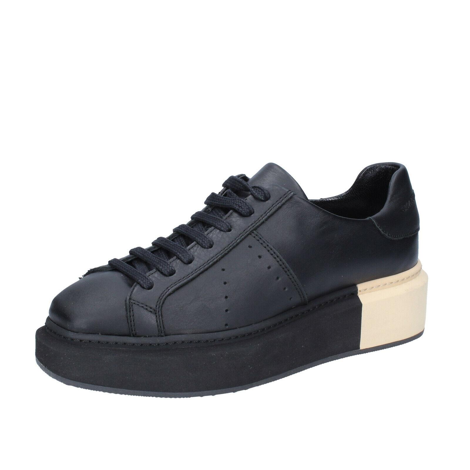 Zapatos para mujer Manuel Barcelo 7 () Zapatillas De Cuero Negro BS328-40