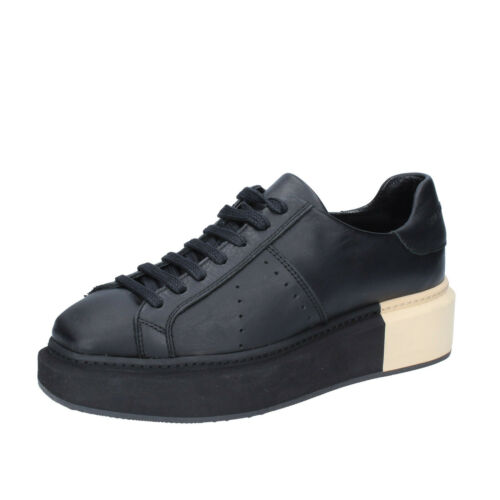 sneakers black leather BS328-38 EU 38 womens shoes MANUEL BARCELO 5