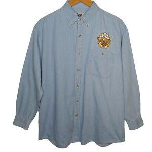 Vintage Heinz Field Lee Sport Men's XL Shirt Denim Embroidered Long Slv Steelers