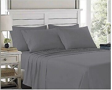1900 Count Series Sheets Set Flat Fitted 14 Inches Deep Wrinkle Free Soft