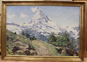 Painting-by-Ernst-Faehndrich-Matterhorn