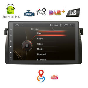 Android-9-0-Head-Unit-9-034-Car-GPS-Navigation-Stereo-Blueototh-OBD-DAB-for-BMW-E46