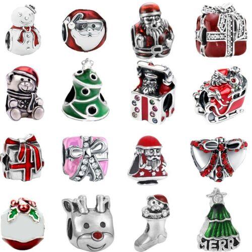 New Merry Christmas Festive season charm Jolly Santa Xmas Fits Charm bracelets