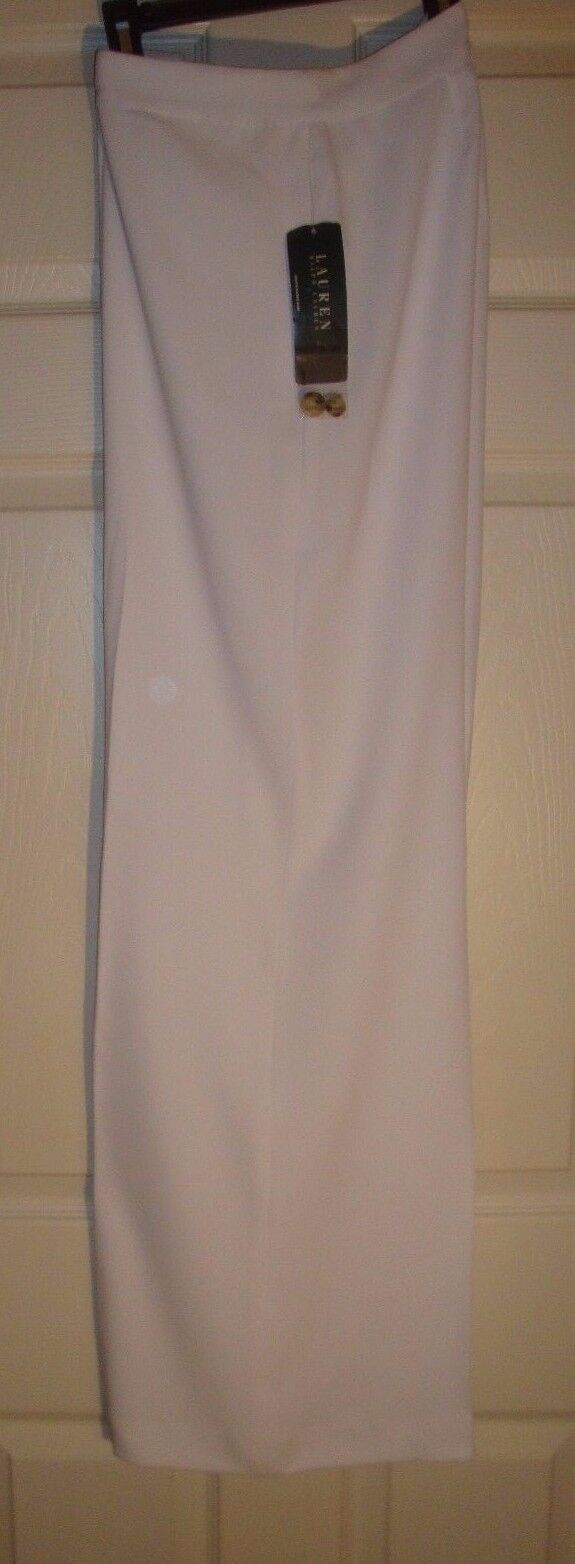 RALPH LAURENladiesWHITE LONG summer DRESS PANTS  (8) N W TAGS  NICE   119.00