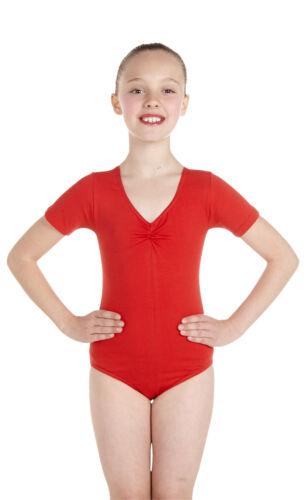 Lycra Leotard manica corta BUSTO-Ballet COLORI (#jane)