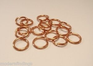 1 OZ  ANTIQUE GENUINE SOLID COPPER OPEN ROUND JUMP RING 20GA O//D 5 MM  520 PCS