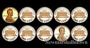 1980-1981-1982-1983-1984-1985-1986-1987-1988-1989-S-Lincoln-Mint-Proof-Set